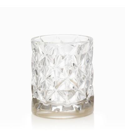 Langham - Porta candela sampler con banda metallica e vetro sfaccettato Yankee Candle