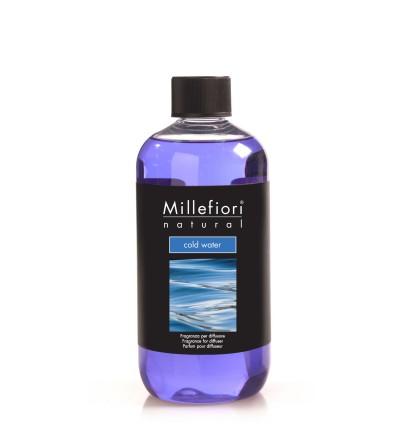 Cold Water - Ricarica 500ml diffusore a bastoncini Natural Millefiori Milano