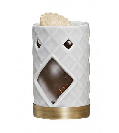Langham - Bruciatore per Tart Ceramica sfaccettata Yankee Candle
