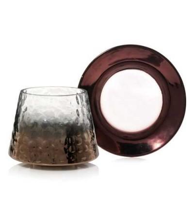 Sheridan - Paralume e Piattino Grande sfumatura metallica su vetro martellato Yankee Candle