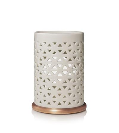 Belmont - Bruciatore per Tart Ceramica con base in metallo Yankee Candle