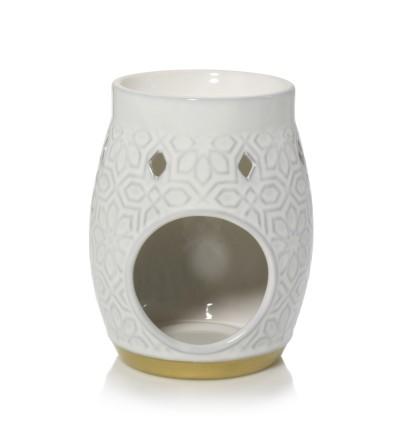 Addison - Bruciatore per Tart in ceramica con motivo a trama Yankee Candle
