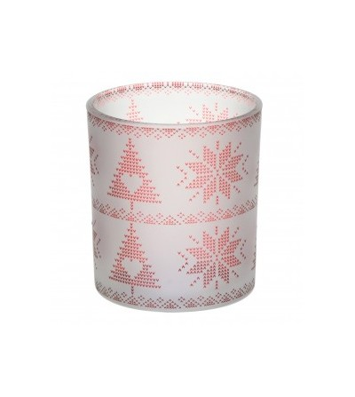 Red Nordic Frosted Glass - Porta candela sampler Yankee Candle