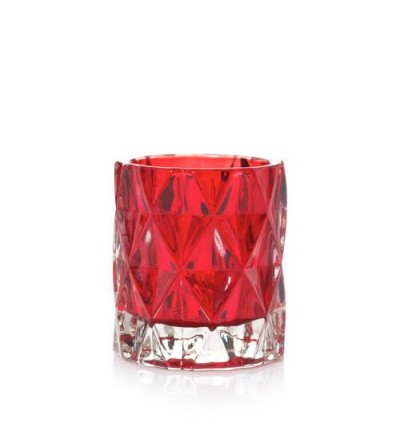 Red Nordic Frosted Glass - Porta candela sampler/tea light Yankee Candle