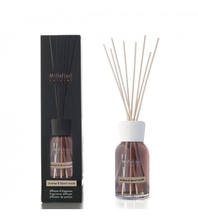 Incense & Blond Woods - Diffusore 250ml  a bastoncini Natural Millefiori Milano