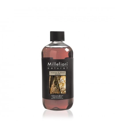 Incense & Blond Woods - Ricarica 500ml diffusore a bastoncini Natural Millefiori Milano