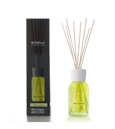 Lemon Grass - Diffusore 250ml  a bastoncini Natural Millefiori Milano