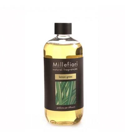 Lemon Grass - Ricarica 500ml diffusore a bastoncini Natural Millefiori Milano