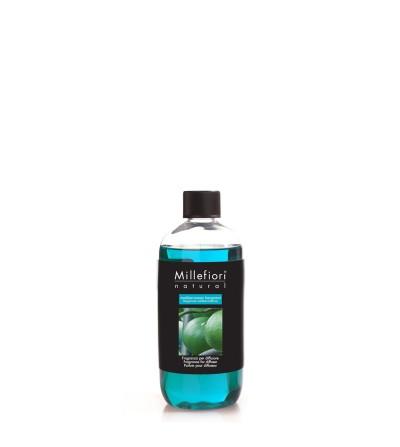 Mediterranean Bergamot - Ricarica 500ml diffusore a bastoncini Natural Millefiori Milano