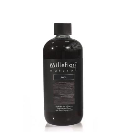 Nero - Ricarica 500ml diffusore a bastoncini Natural Millefiori Milano