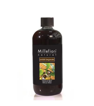 Sandalo Bergamotto - Ricarica 500ml diffusore a bastoncini Natural Millefiori Milano