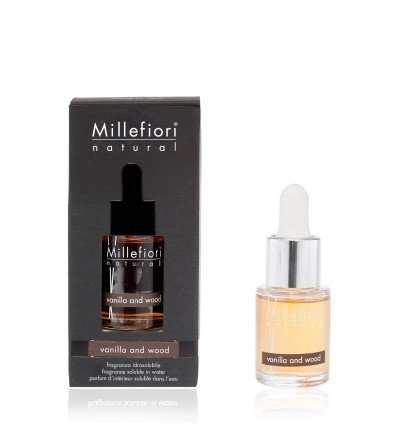 Vanilla & Wood - Fragranza Idrosolubile 15ml Millefiori Milano
