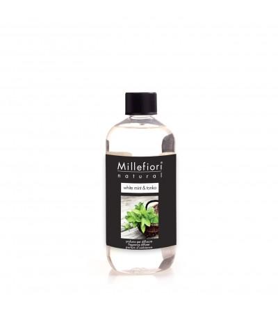 White Mint & Tonka - Ricarica 500ml diffusore a bastoncini Natural Millefiori Milano