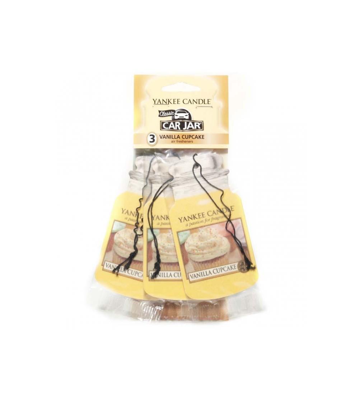 Vanilla Cupcake - Car Jar 3pack Yankee Candle