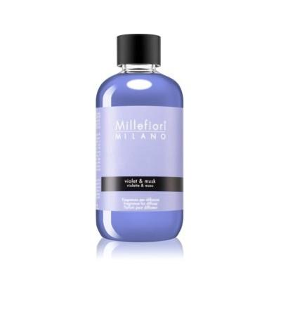 Violet & Musk - Ricarica 500ml diffusore a bastoncini Natural Millefiori Milano