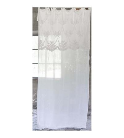 Tenda con mantovana Clarissa - Blanc Mariclò
