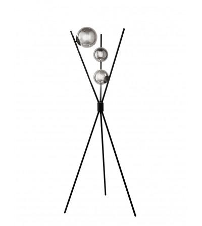 Piantana 3 Luci In Metallo Nero Corolla Ondaluce - Ciciriello
