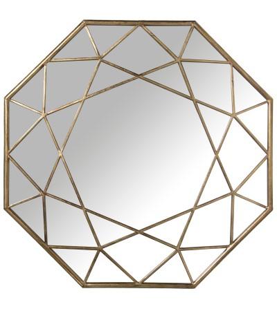 Specchio in metallo dorato - Exclusivas Camacho