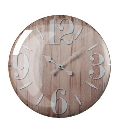 Orologio da parete con vetro lenticolare e numeri bianchi - Montemaggi