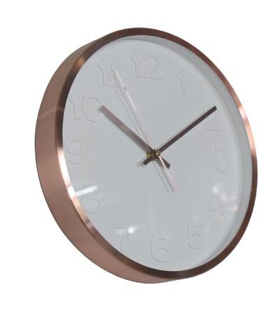 Orologio da parete in alluminio ramato - Exclusivas Camacho