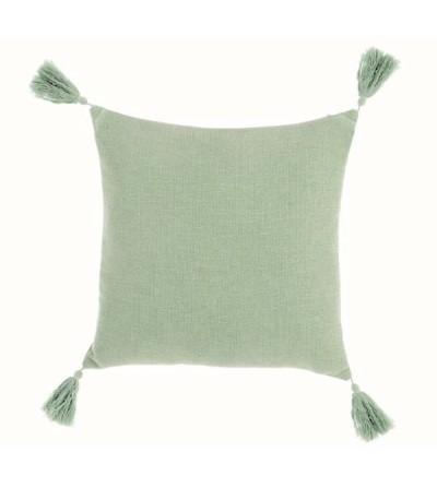 Cuscino con nappe colore verde - Blanc Mariclò