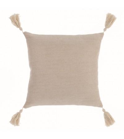 Cuscino con nappe colore avorio - Blanc Mariclò