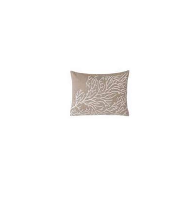 Cuscino con ricamo corallo - Blanc Mariclò