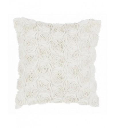Cuscino con rose bianco - Blanc Mariclò
