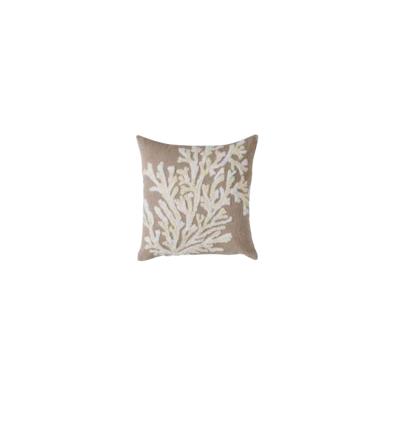 Cuscino ricamo corallo - Blanc Mariclò