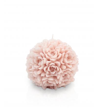 Candela sfera piccola magnolia col cipria - Cereria Parma