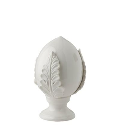 Pumo bianco medio decorazione dipinto a mano - Montemaggi