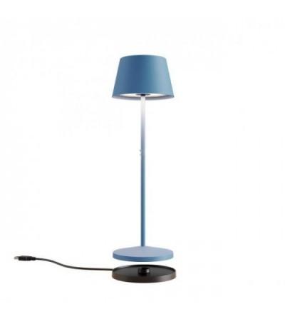 LA NUIT - Lampada da tavolo tonda blu - Redo Group