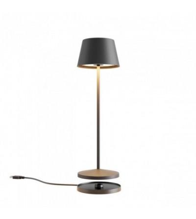 LA NUIT - Lampada da tavolo tonda grigia - Redo Group