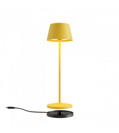 LA NUIT - Lampada da tavolo tonda gialla - Redo Group