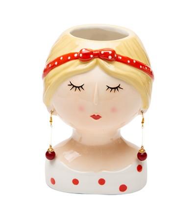 Coco Girl con fiocco rosso orecchini lunghi - Montemaggi
