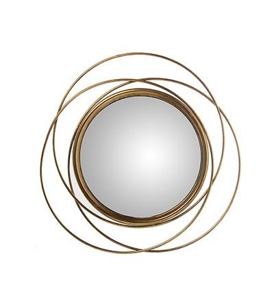 Specchio rotondo in metallo dorato - Exclusivas Camacho