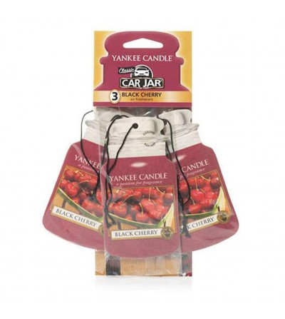 Black Cherry - Car Jar 3pack Yankee Candle
